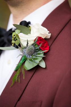 Nicholas Wedding boutonierre