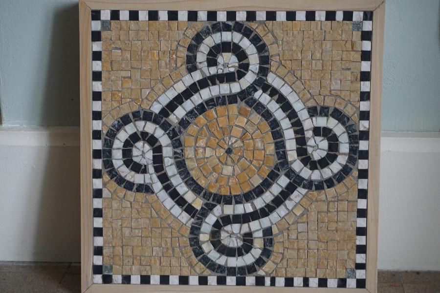 Dalle - motif antique - Pavement intérieur / extérieur, pas japonais pour le jardin