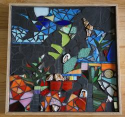 Paysage vitrail