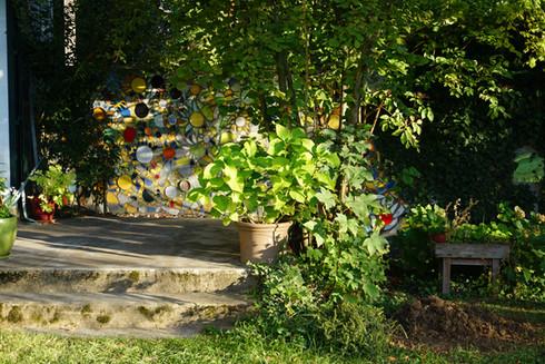 Mosaïque murale, jardin