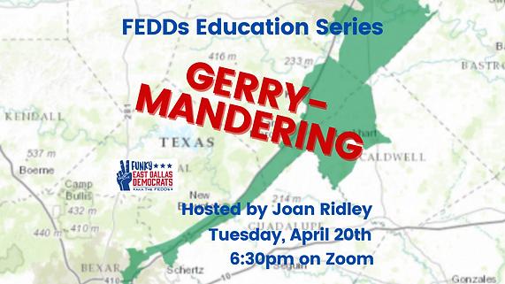 education Series, Gerry-mandering, meeting