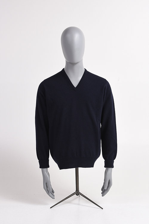 Pullover V-Neck 100 % Lambswool