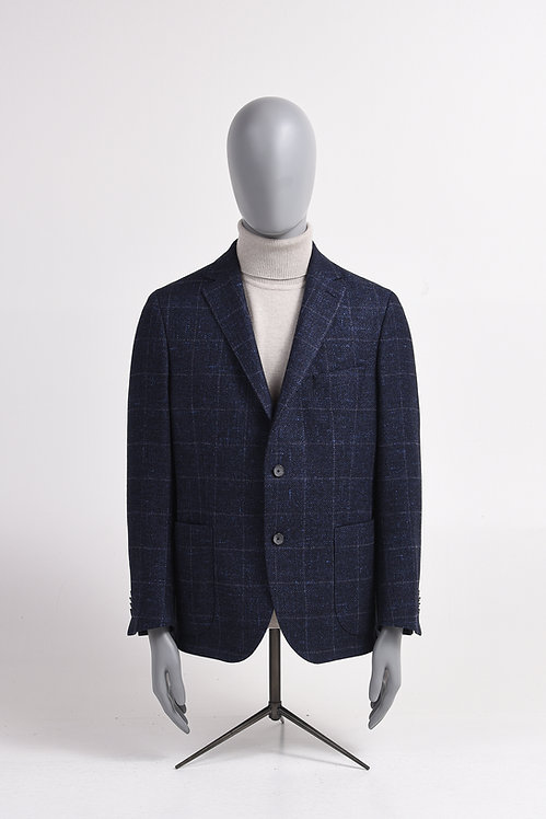 Sakko blau-/grau kariert