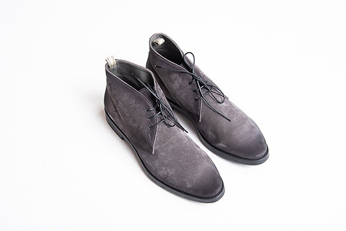 Officine Creative Stiefel grau velours