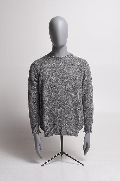 Pullover R-Neck grau melange