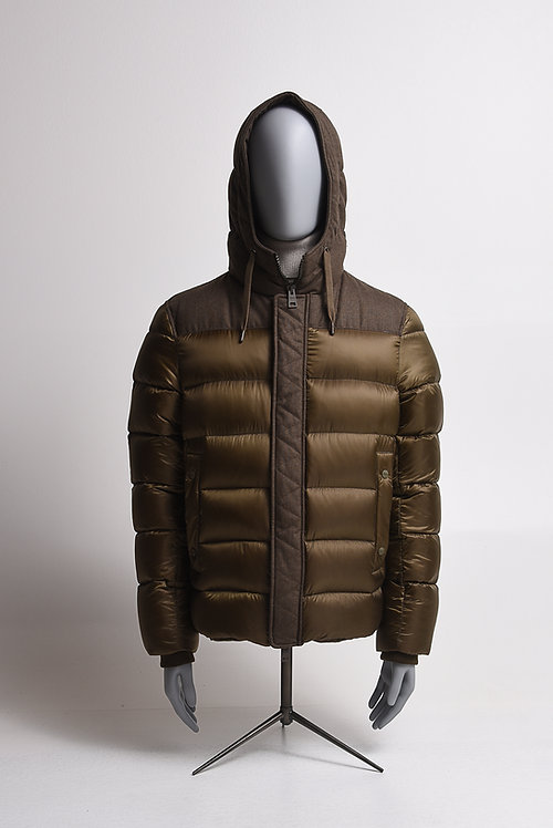Jacke khaki mit Daunenfütterung