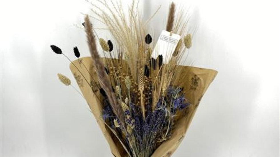 getrockneter Blumenstrauß  Herbst-Blau x 1