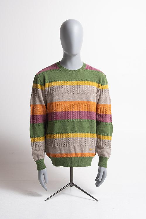 Pullover mehrfarbig gestreift