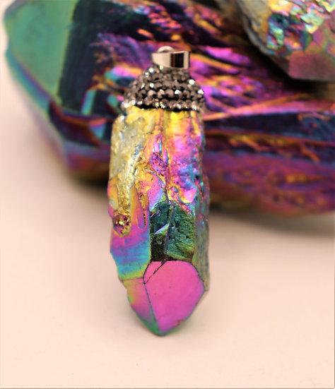 Raw Rainbow Titanium Aura Quartz