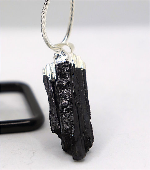 Raw Black Tourmaline Pendant