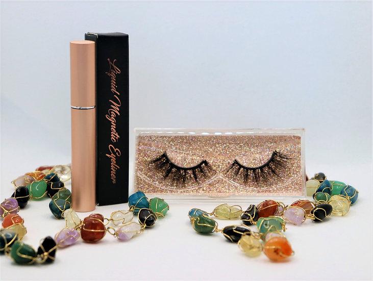 Peach Sapphire Magnetic Eyelashes