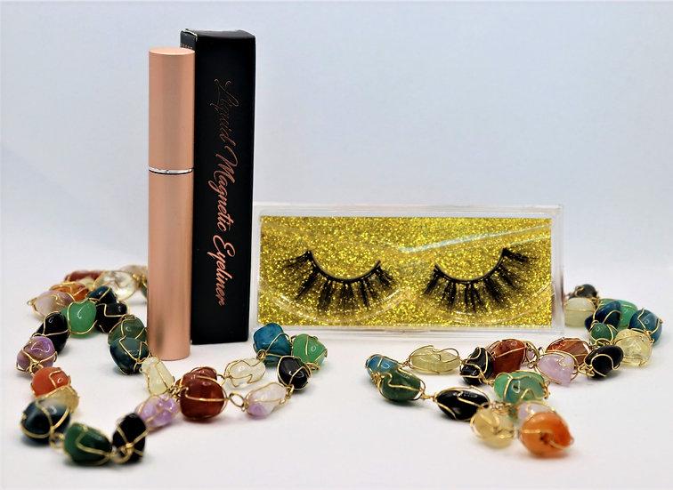 Yellow Sapphire Magnetic Eyelashes