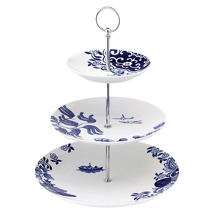 Willow Love Story Three Tier Cake Stand