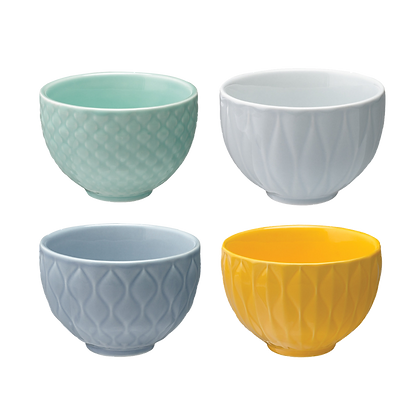 Weave Set of 4 Textured Bowls - Look Cool