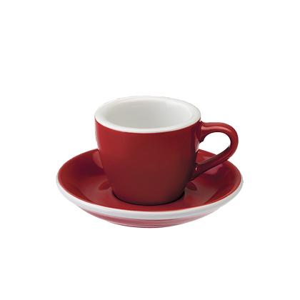 Egg 80 ml Espresso Cup and Saucer