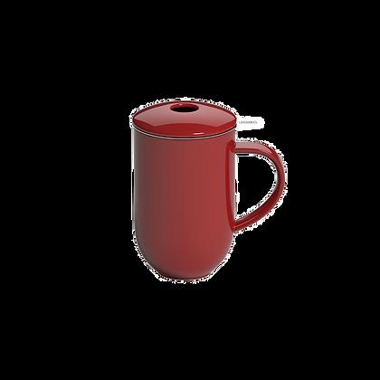 Pro Tea 450ml Mug with Infuser & Lid - Red