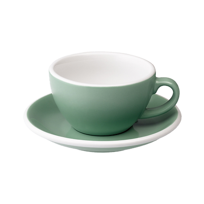 Egg 200 ml Cappuccino Cup and Saucer