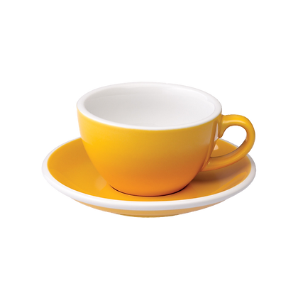 Egg 150 ml Flat White Cup and Saucer