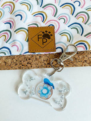 LARGE DONALD DONUT RESIN DOG TAG
