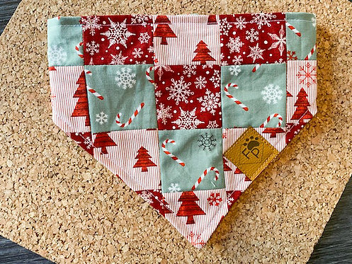 CANDY CANE SNOWFLAKES PATCHWORK 'DANA
