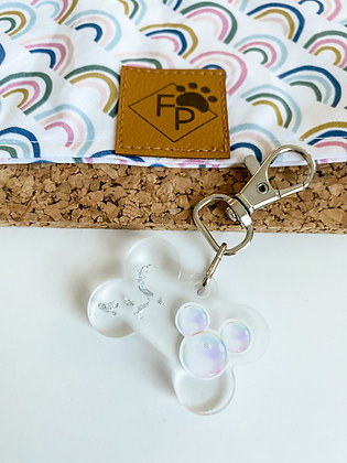 SMALL BUBBLE MOUSE RESIN DOG TAG
