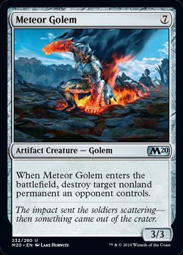 Meteor Golem 2x Core Set 2020 2x Core Set 2019