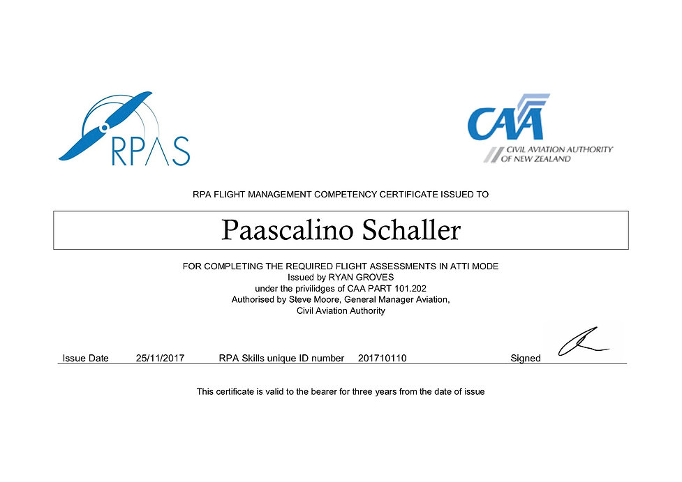 RPA FLIGHT MANAGEMENT COMPETENCY CERTIFI