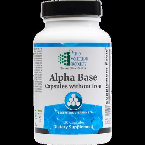 Alpha Base w/o Iron (limit 5)