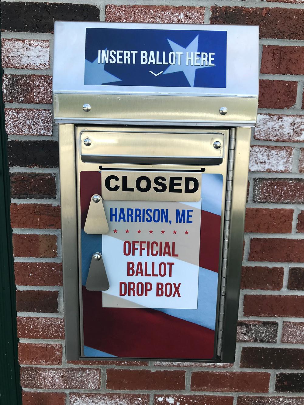 Harrison Maine Outdoor Ballot Box