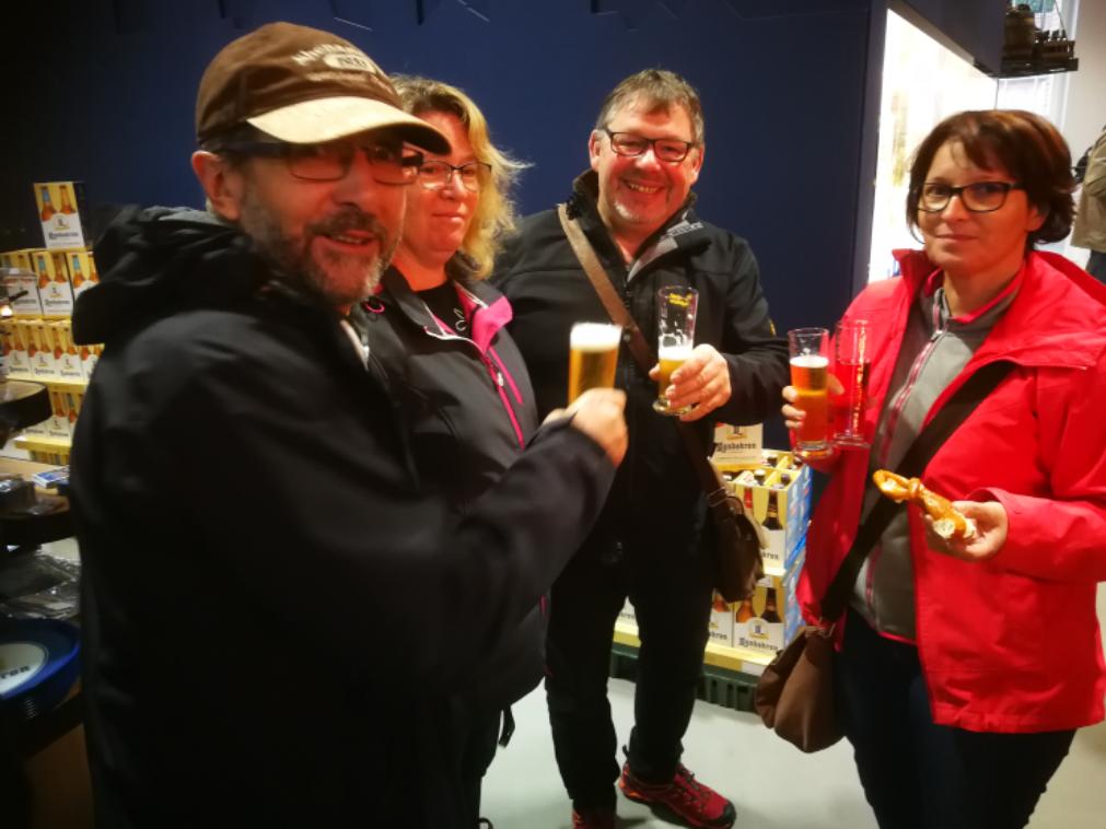 Einige der Teilnehmer im Bierthater