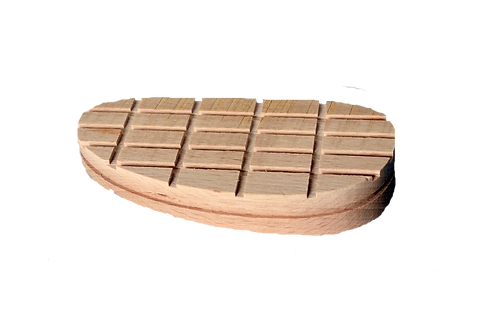 Holzklotz, 13 cm abgeschrägt, 100er Pack