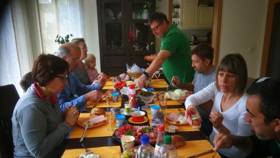Willkommensjause bei Familie Gräubig