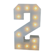 Wooden Marque Number