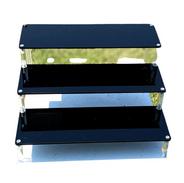 3 Tier Black Acrylic Glass Stand