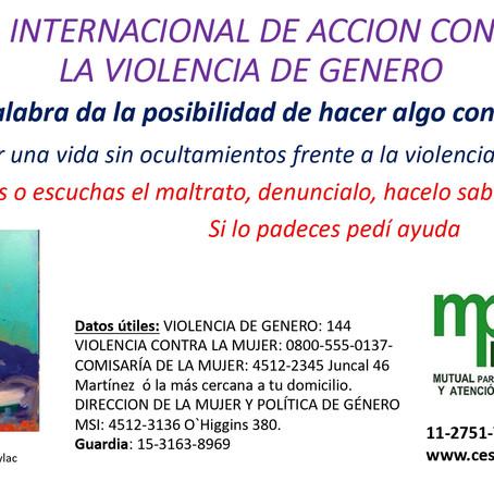 Dia Internacional para la eliminación de la violencia contra la mujer
