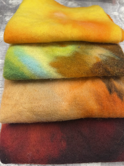 Pre Felt Hand Dyed x 4 pieces - 015