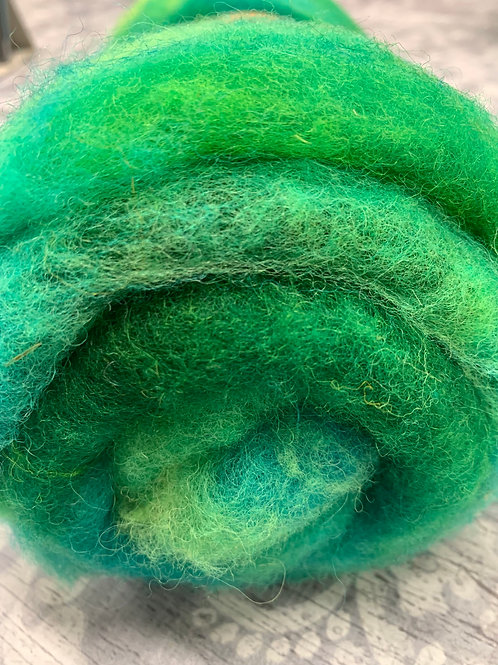 Hand dyed Finnsheep Batt 097