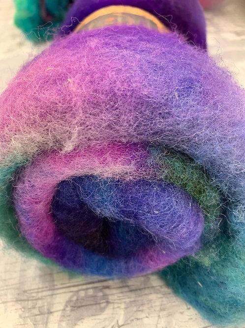 Hand dyed Finnsheep batt 061