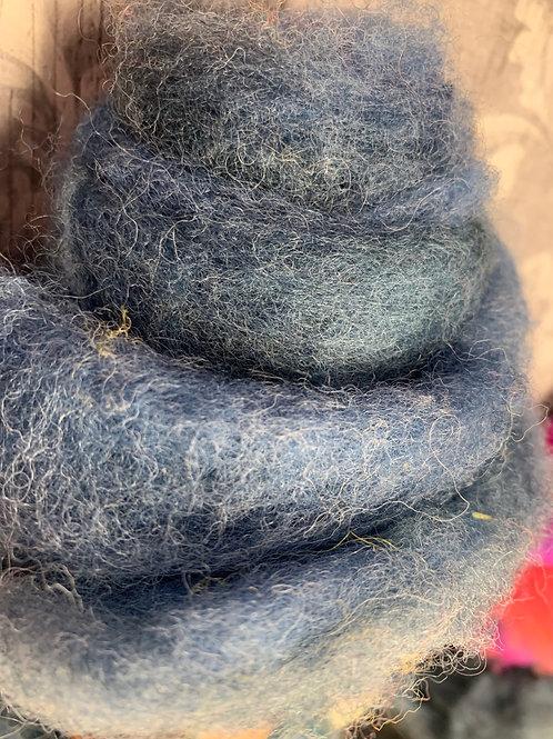 Hand dyed Finnsheep Batt 013