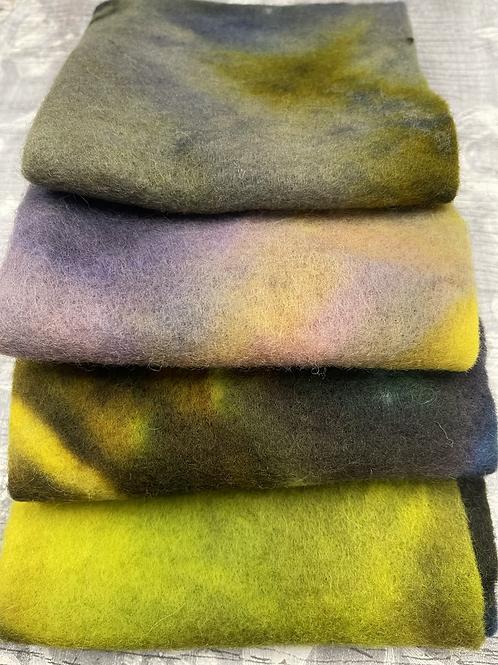 Pre Felt Hand Dyed x 4 pieces - 013