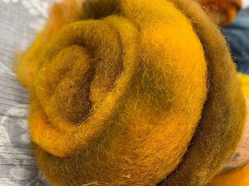 Hand dyed Finnsheep batt 035