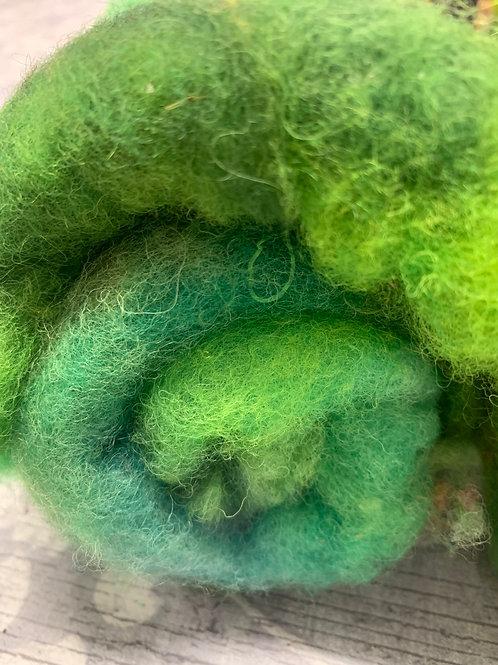 Hand dyed Finnsheep Batt 091