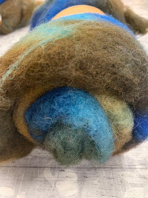 Hand dyed Finnsheep batt 056