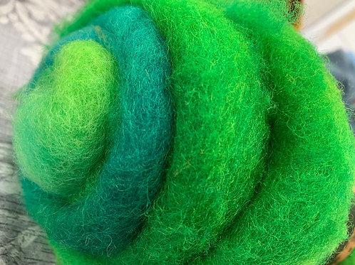Hand dyed Finnsheep batt 028