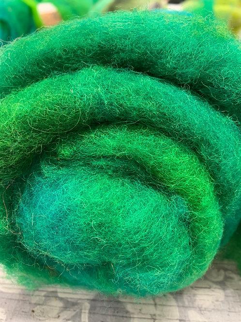 Hand dyed Finnsheep Batt 089