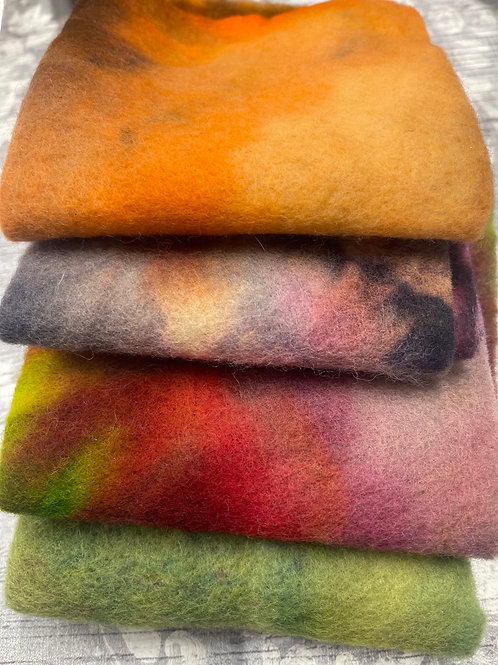 Pre Felt Hand Dyed x 4 pieces - 039