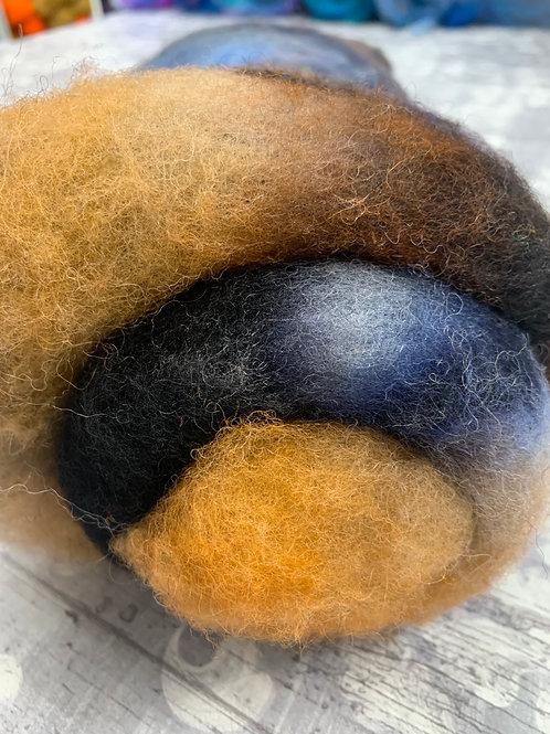 Hand dyed Finnsheep batt 046