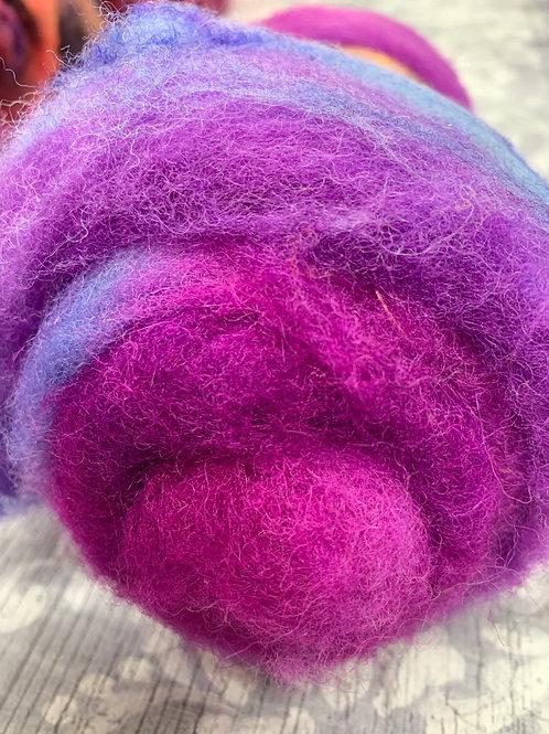 Hand dyed Finnsheep batt 065