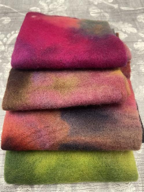 Pre Felt Hand Dyed x 4 pieces - 034