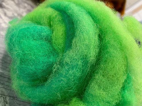 Hand dyed Finnsheep batt 027